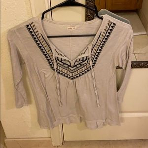 Hollister blouse with tie front